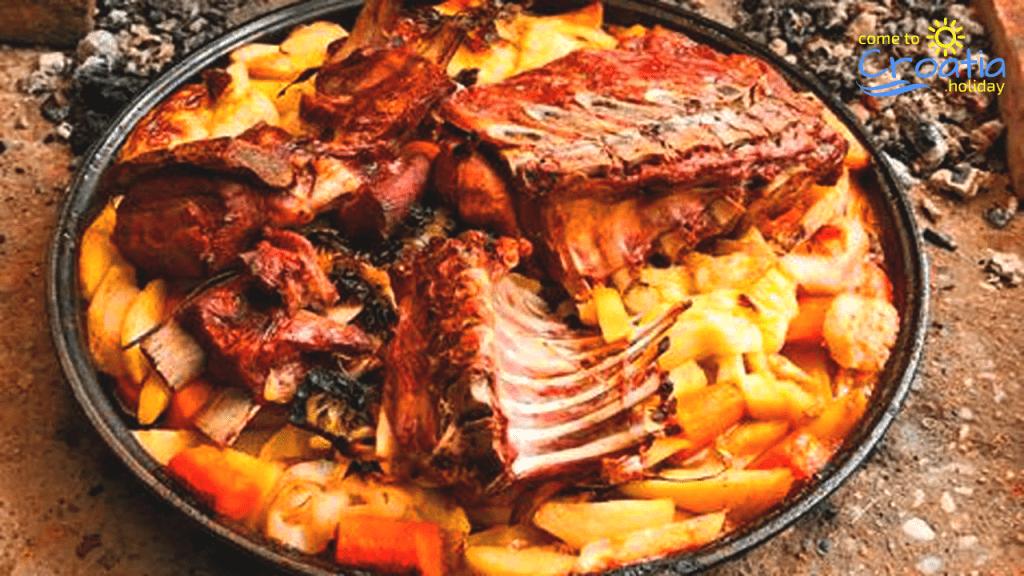 Traditional Croatian Cuisine - Dalmatian Peka