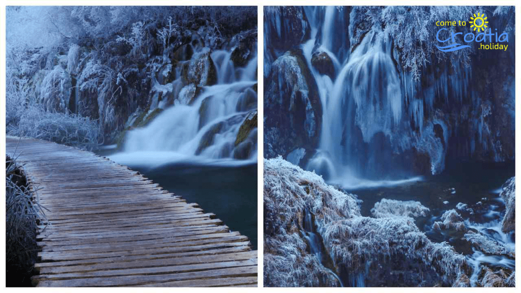 Plitvice Lakes National park in the Winter