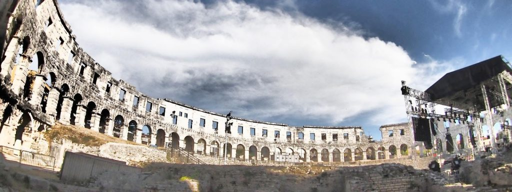 The Pula Amphitheatre, the famous Pula Arena
