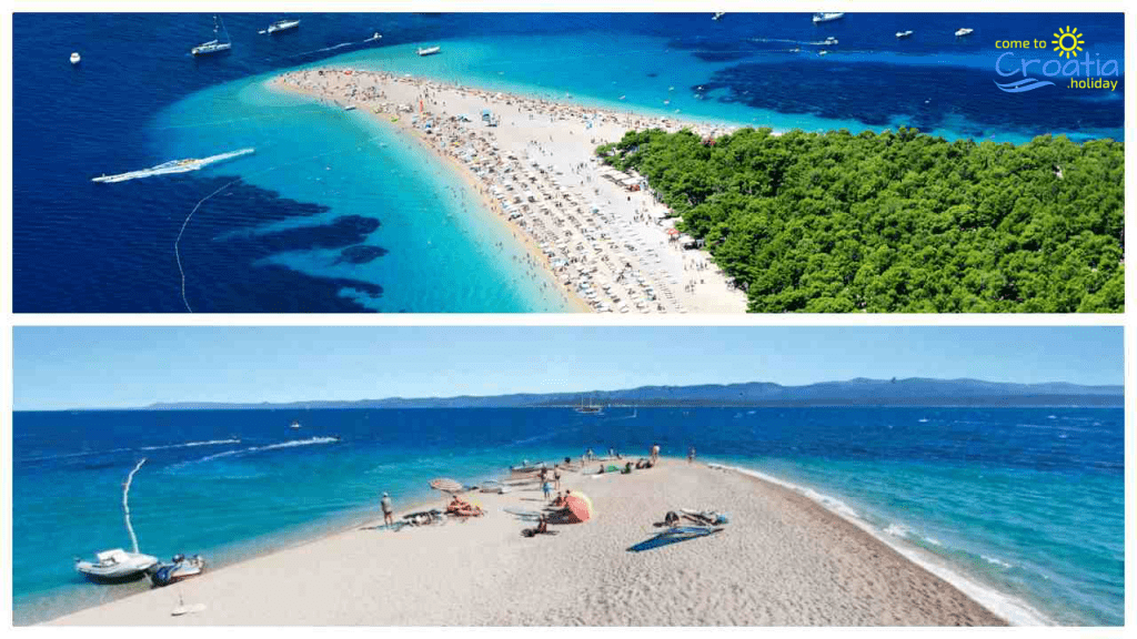Zlatni Rat Beach, island of Brač