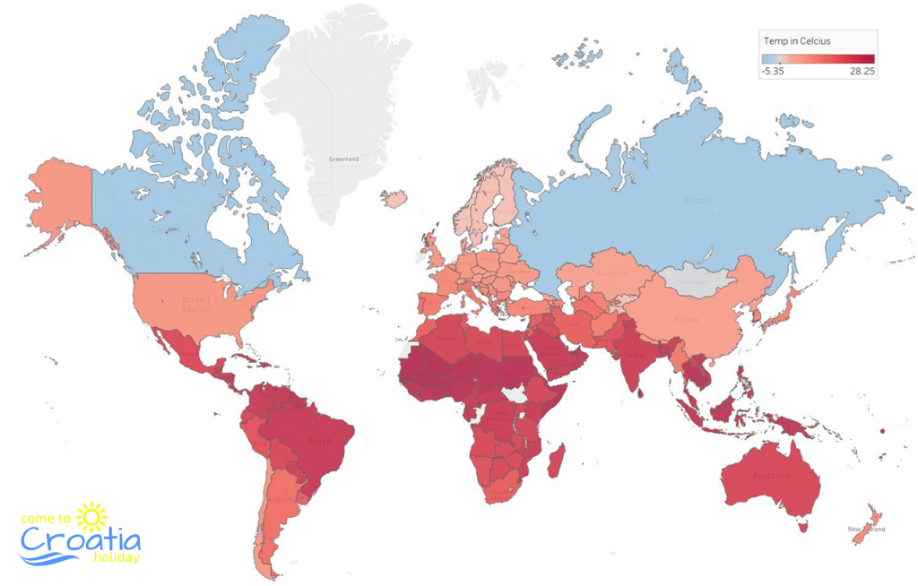List of Countries by Average Yearly Temperature