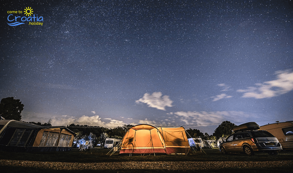 Camping in Croatia Under the Starry Night