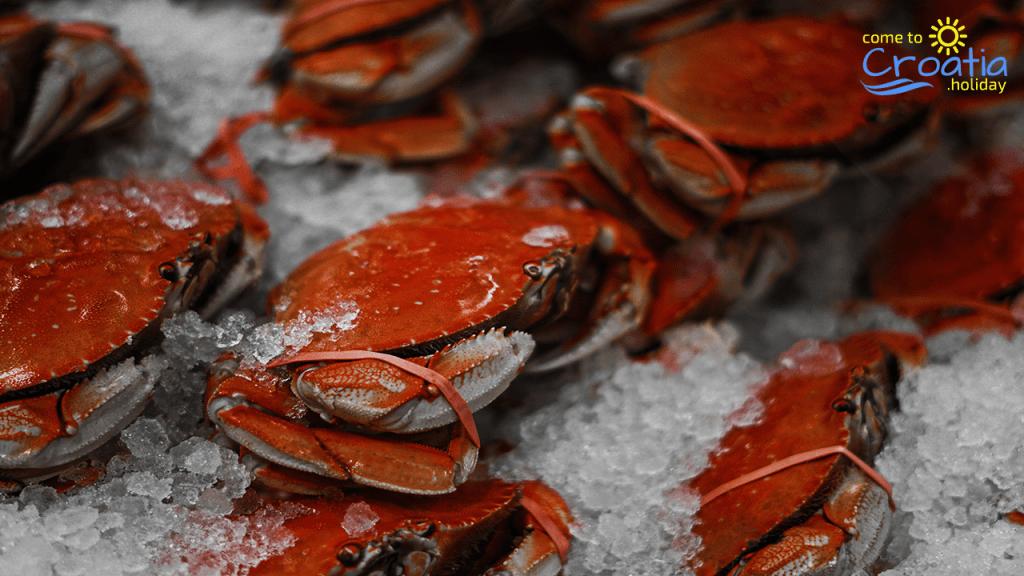 Fresh Crabs in Croatia