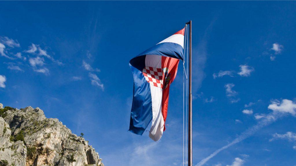 Croatian Flag after the War of Independance