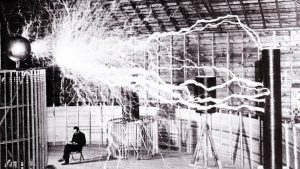 Nikola Tesla and his Equipment