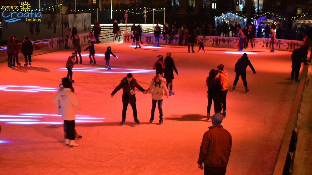 The Ice Skate Park on the King Tomislav square